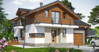 Gotowy projekt domu – Dom w budlejach ver.2