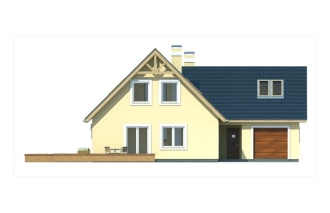 Gotowy projekt domu SOSENKA II wersja A paliwo stałe