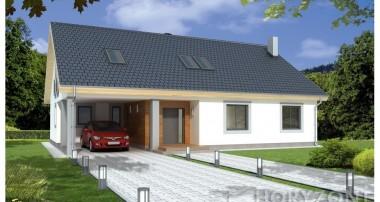 Projekt domu BARTEK II wersja A z wiatą