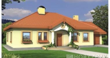 Projekt domu SIELANKA II 35 st. Wersja B z podwójnym garażem