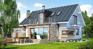 Gotowy projekt domu - Dom pod ambrowcem