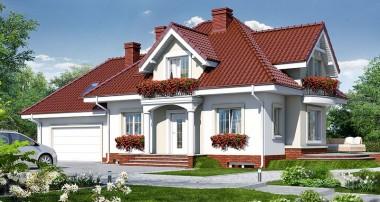 Gotowy projekt domu – Dom w werbenach (G2P) ver. 2
