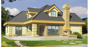 Gotowy projekt domu LAWENDA wersja A z piwnicą paliwo stałe