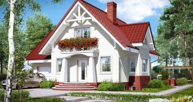 Gotowy projekt domu – Dom w morelach (P)