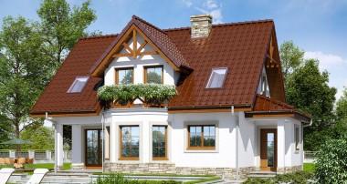 Gotowy projekt domu – Dom w żurawinie (P) ver. 2