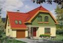 Gotowy projekt domu CYPRYS wersja B z podwójnym garażem