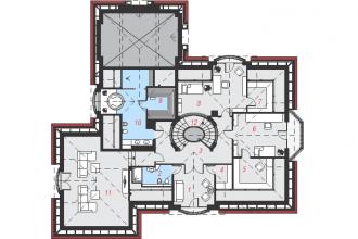 Gotowy projekt domu Rezydencja w persymonach 2