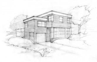 Modern cubic house