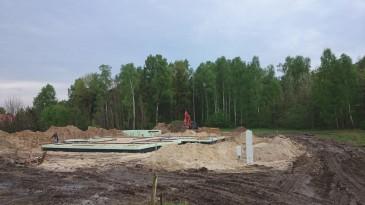 realizacja projektu LK&903 widok na fundamenty