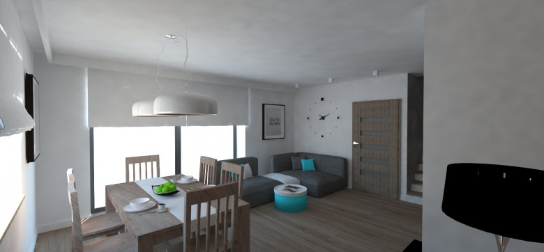 Dom przy Cyprysowej 2 wizualizacja wnętrz
