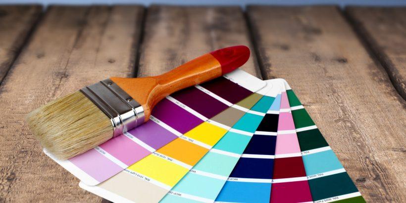 Paint, Paintbrush, Color Swatch.