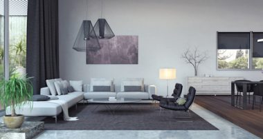 Living room, interior design 3D Rendering