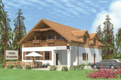Projekt domu z miejscem na działalność gospodarczą